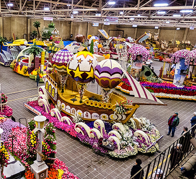 Rose Bowl Parade Float - ship
